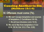 causing another to sin matthew 18 1 95
