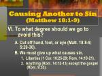 causing another to sin matthew 18 1 97