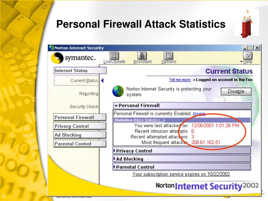 Personal Firewall Attack Statistics