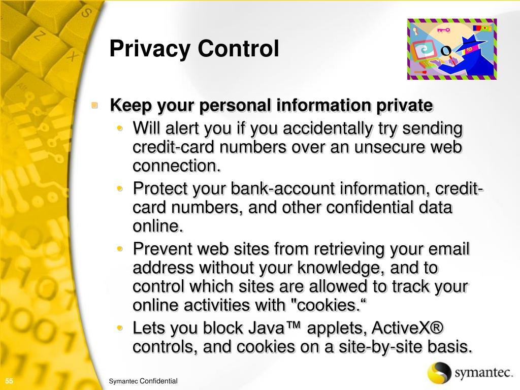 Privacy Control