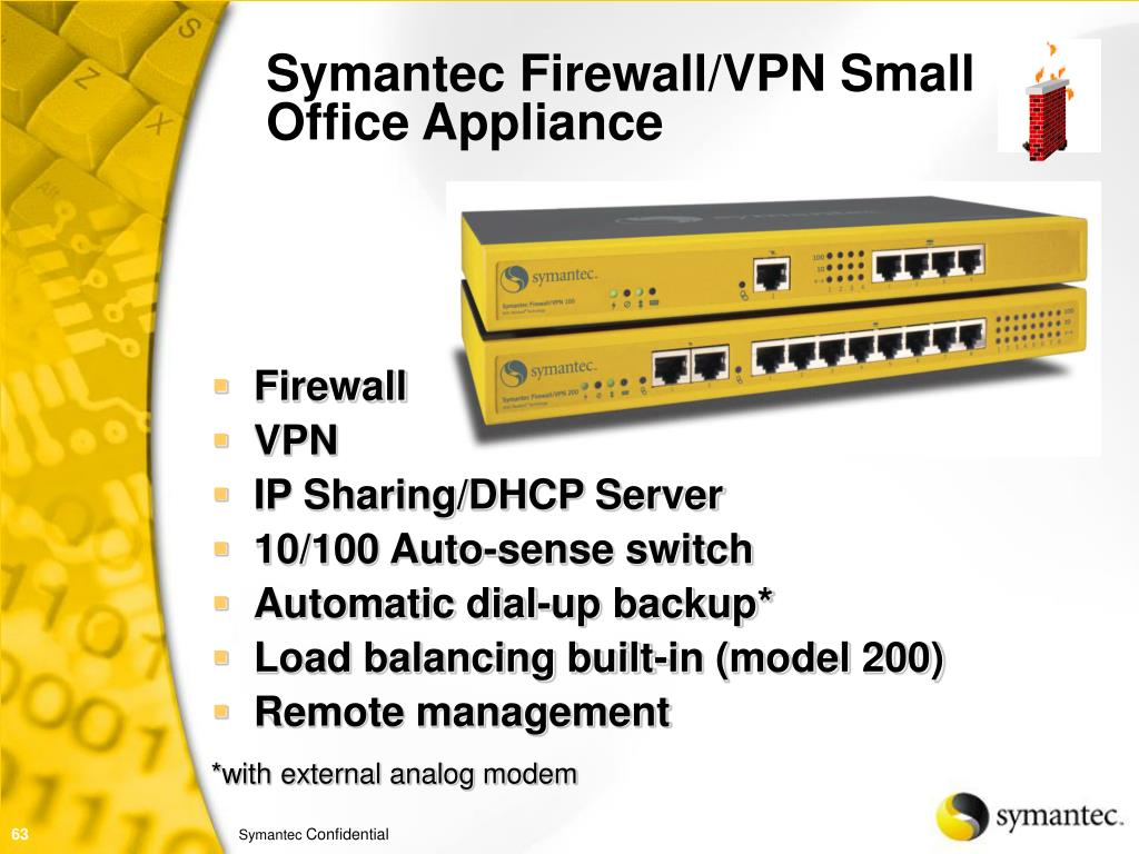 Symantec Firewall/VPN Small Office Appliance