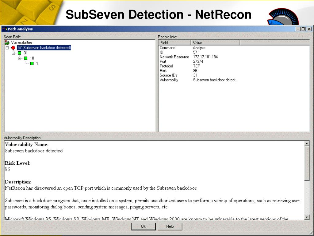 SubSeven Detection - NetRecon