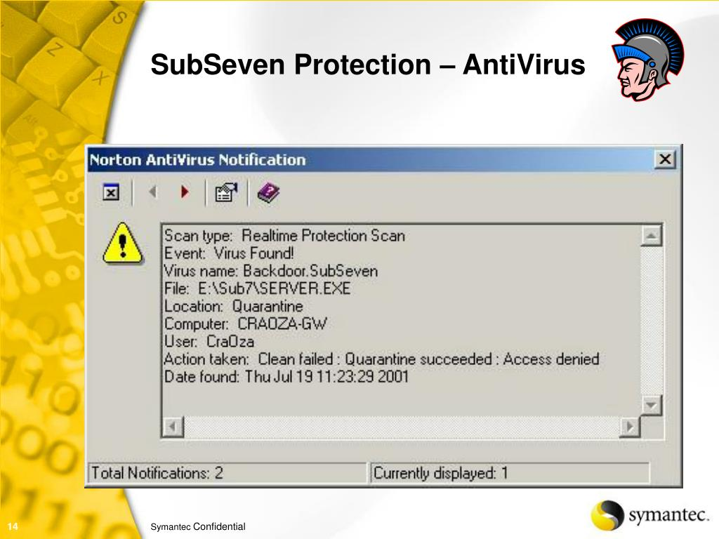 SubSeven Protection – AntiVirus