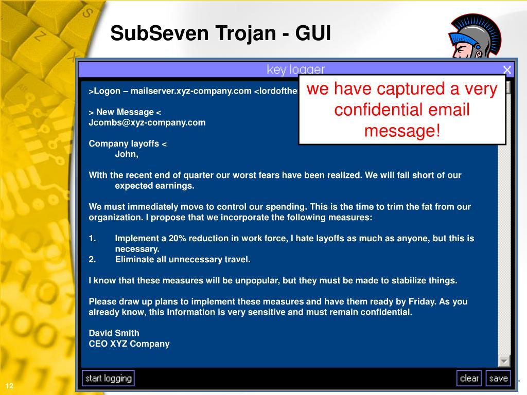 SubSeven Trojan - GUI