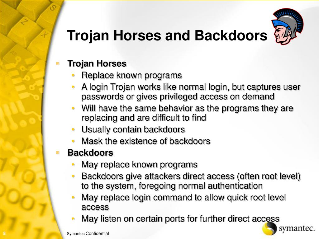 Trojan Horses and Backdoors