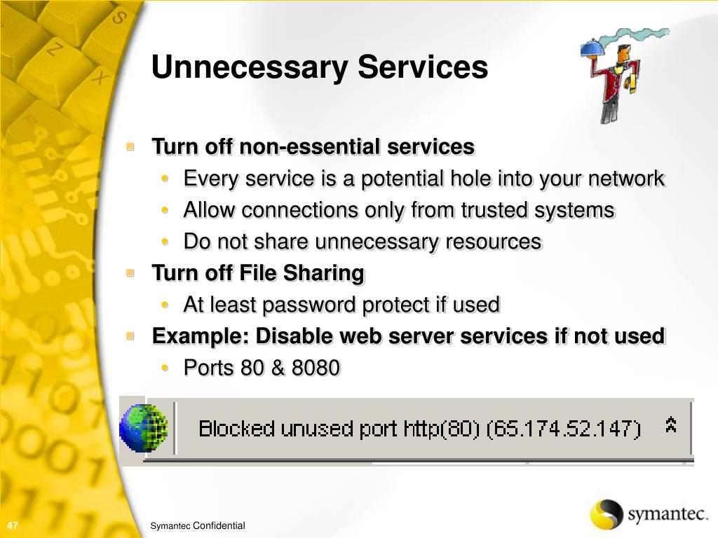 Unnecessary Services