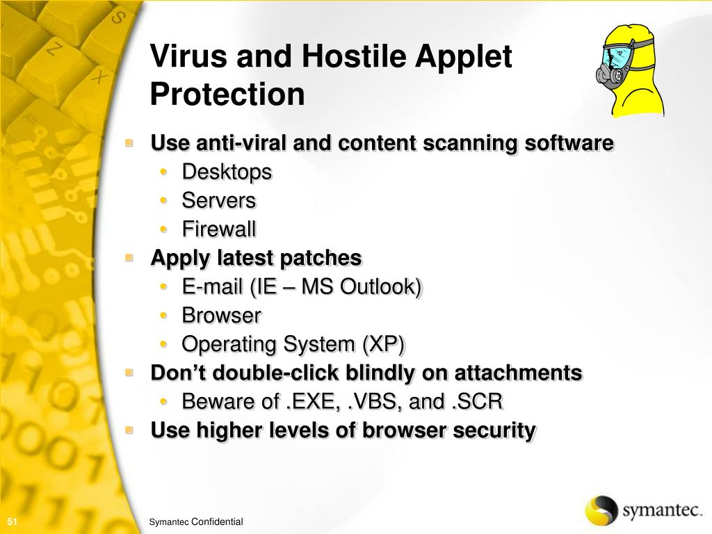 Virus and Hostile Applet Protection