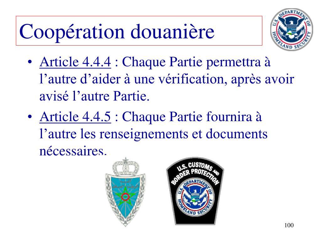 Coopération douanière