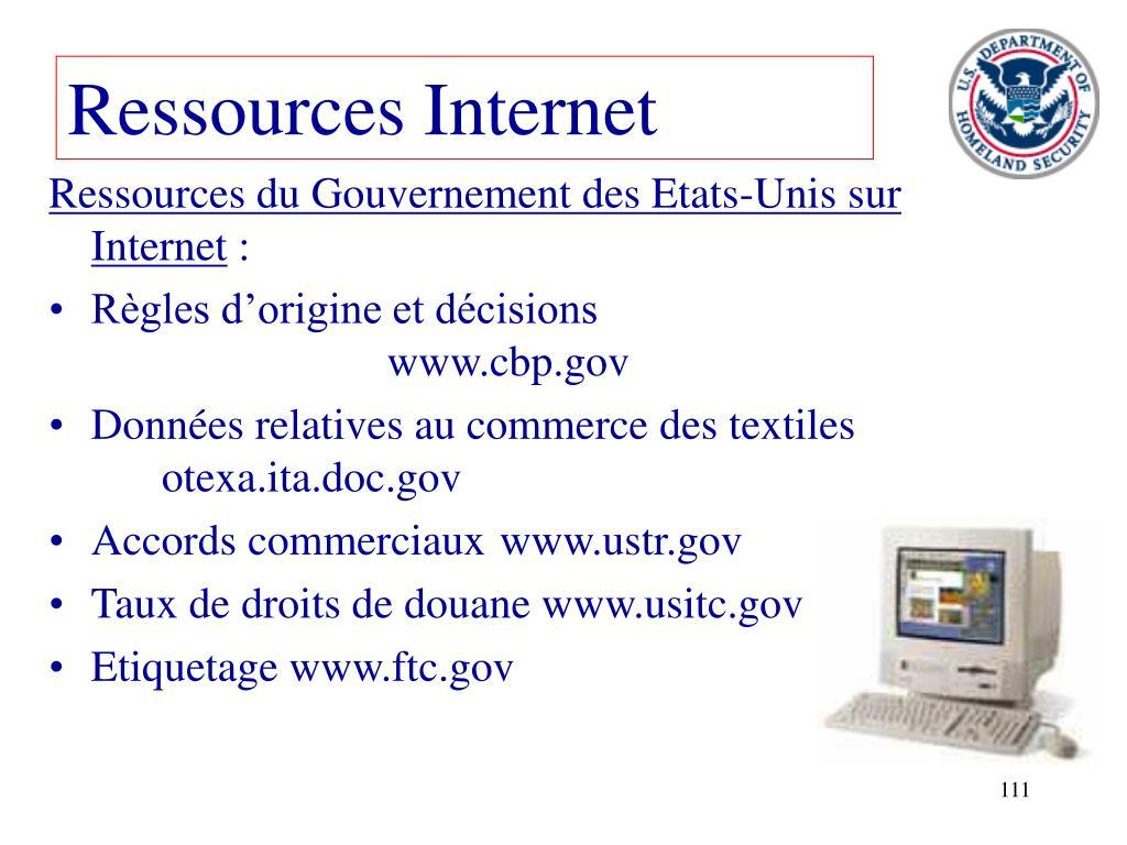 Ressources Internet