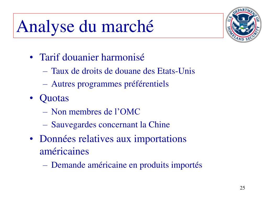 Analyse du marché