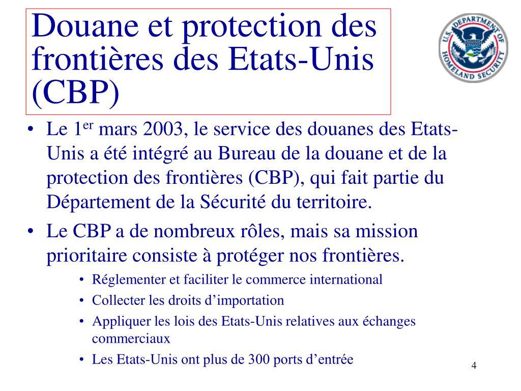 Douane et protection des frontières des Etats-Unis  (CBP)