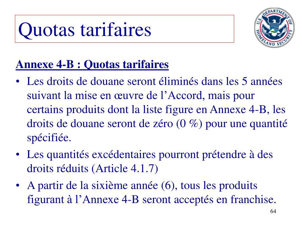 Quotas tarifaires