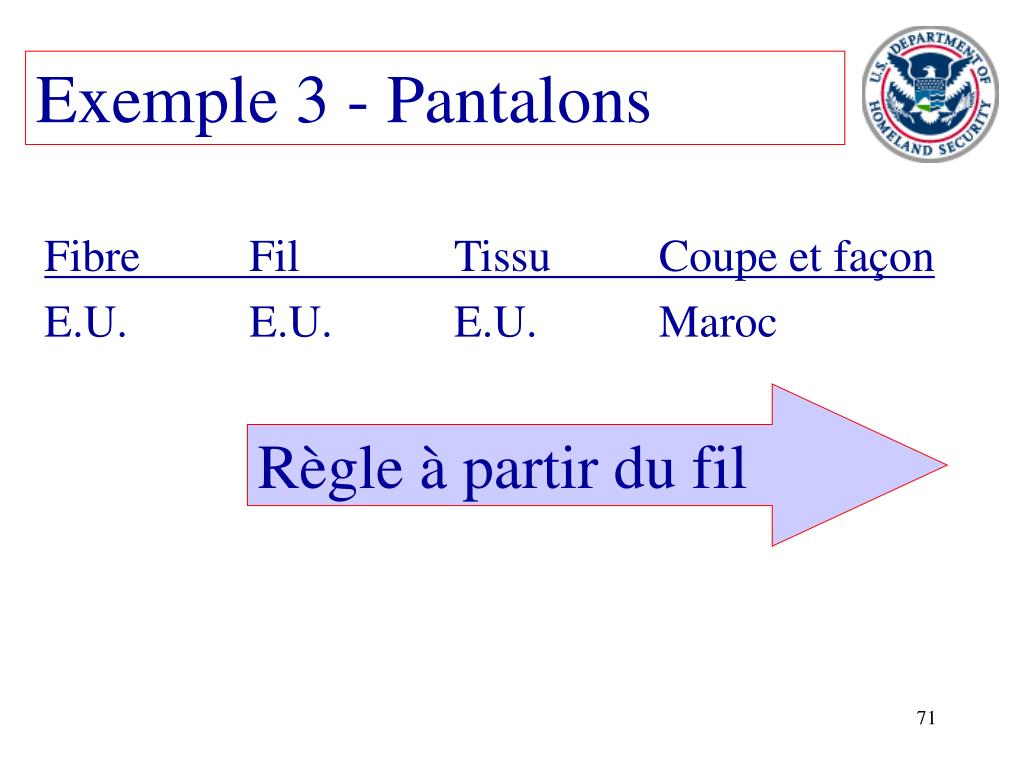 Exemple 3 - Pantalons