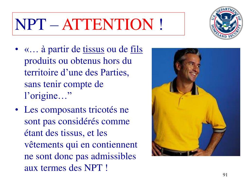 NPT –