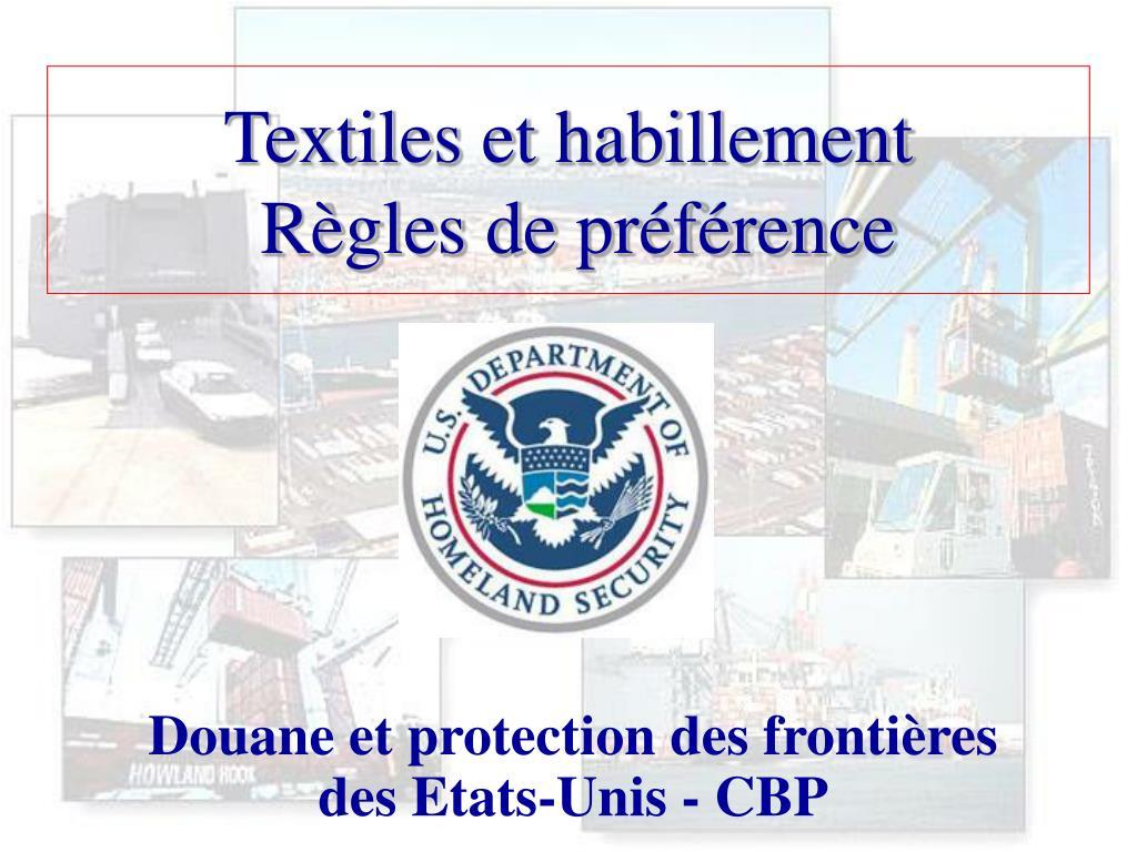 Textiles et habillement