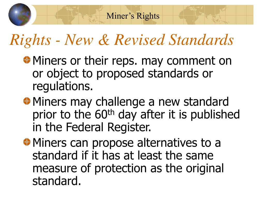 Rights - New & Revised Standards