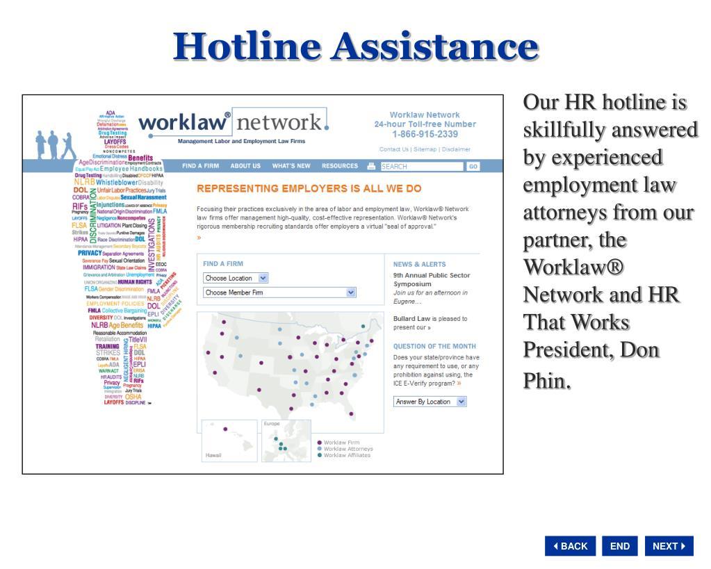 Hotline Assistance