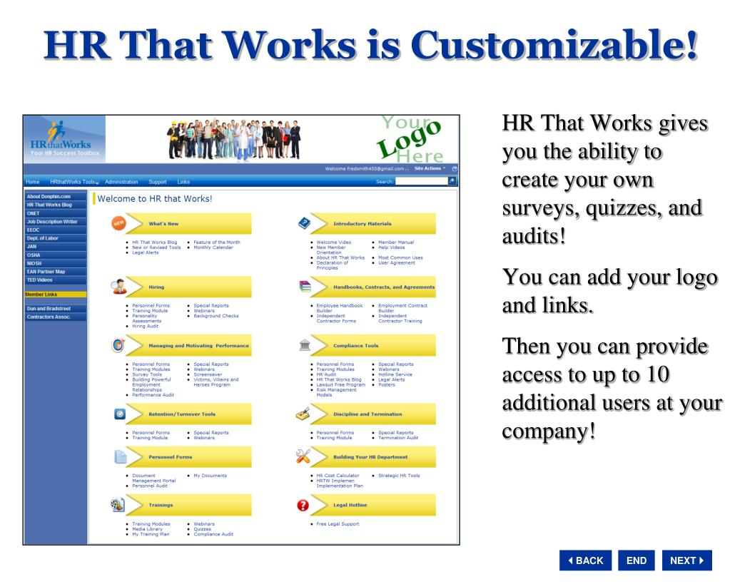 HR That Works is Customizable!