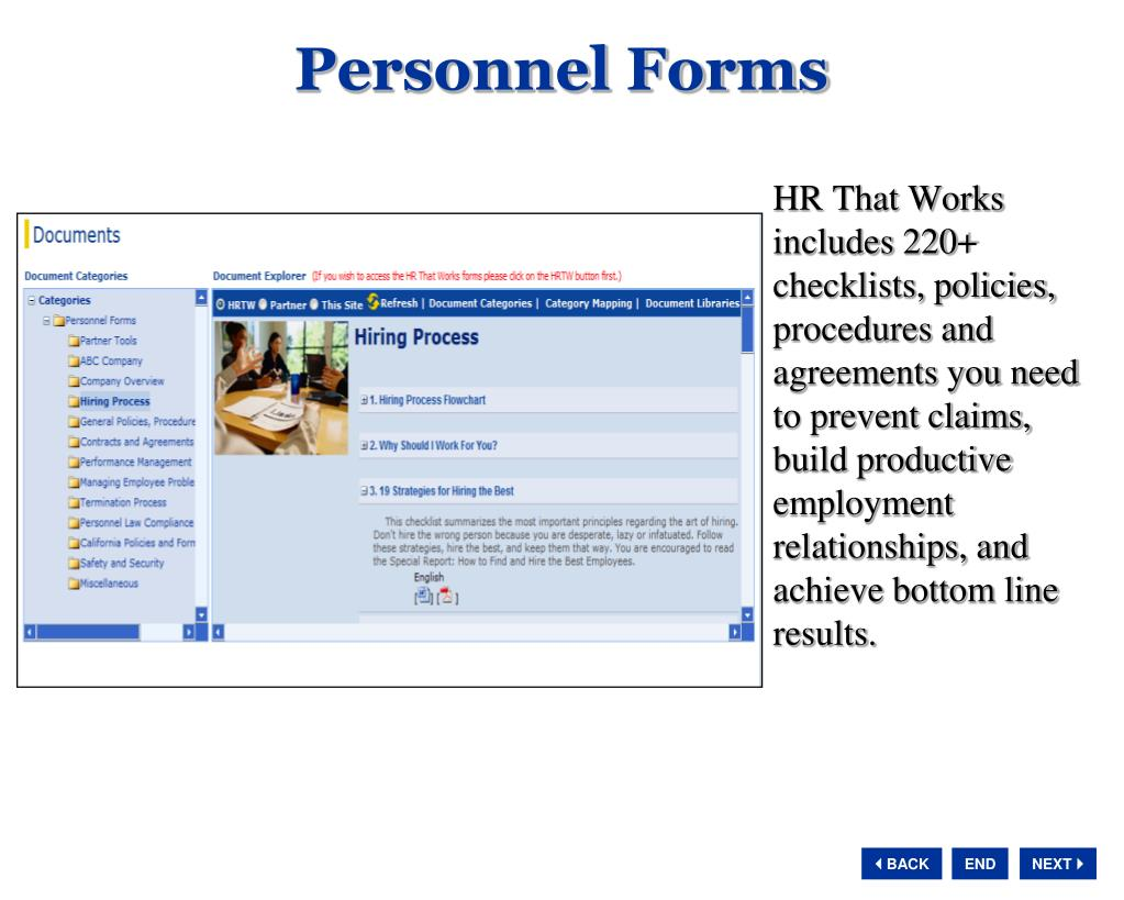 Personnel Forms
