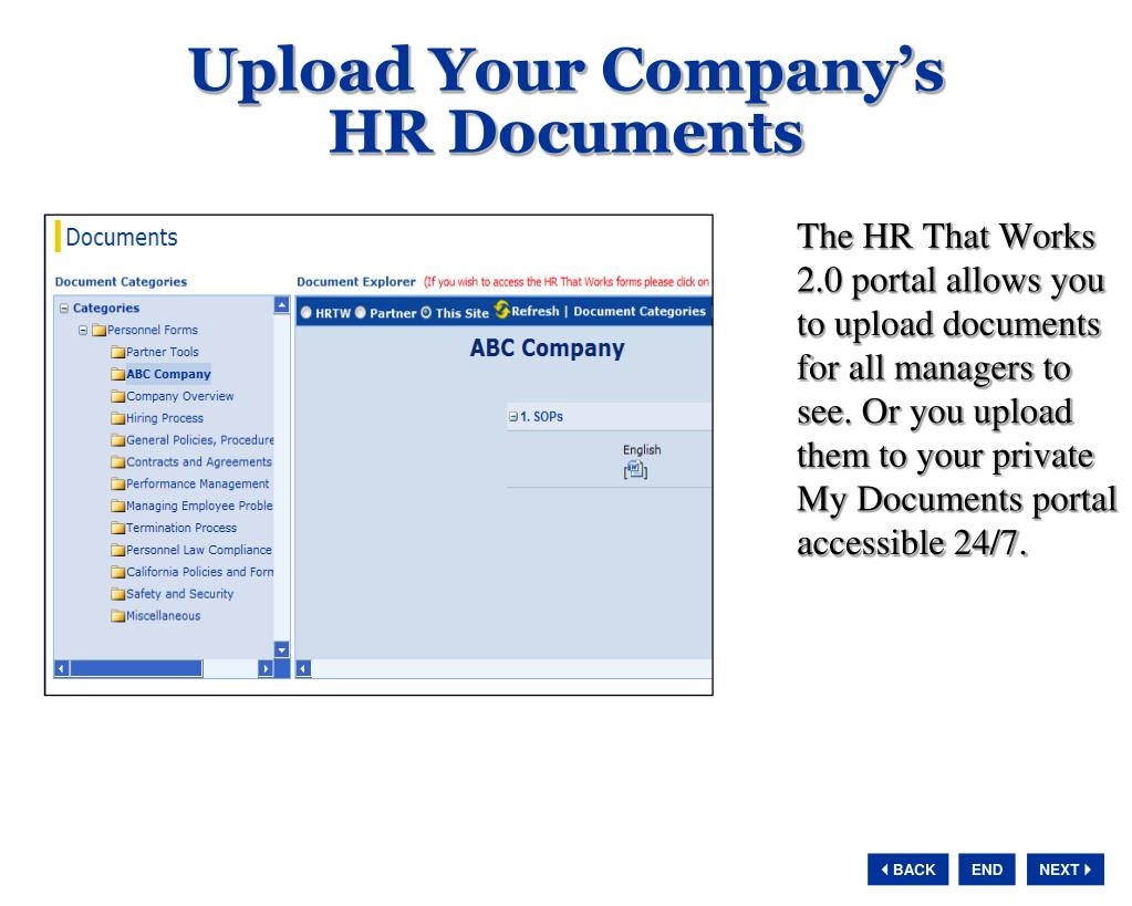 Upload Your Company's