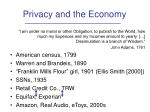 privacy and the economy