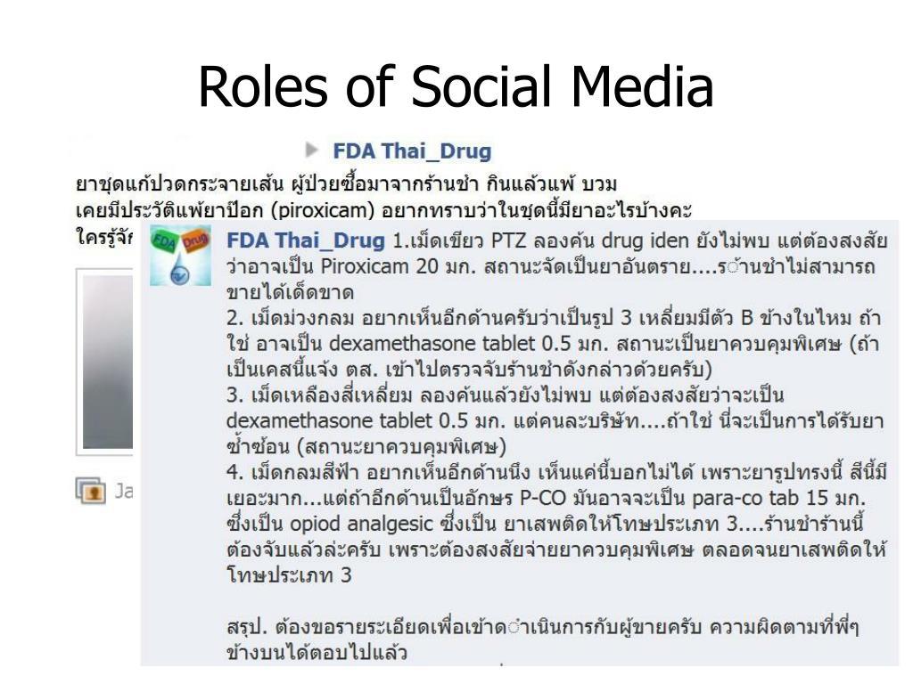 Roles of Social Media