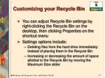 customizing your recycle bin