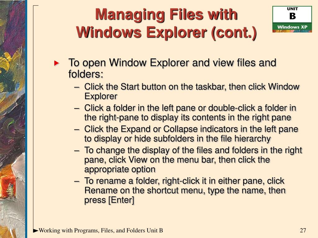 Managing Files with