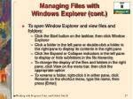 managing files with windows explorer cont