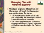 managing files with windows explorer