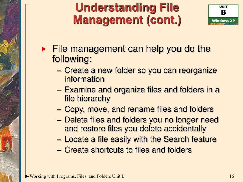 Understanding File