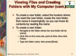 viewing files and creating folders with my computer cont20