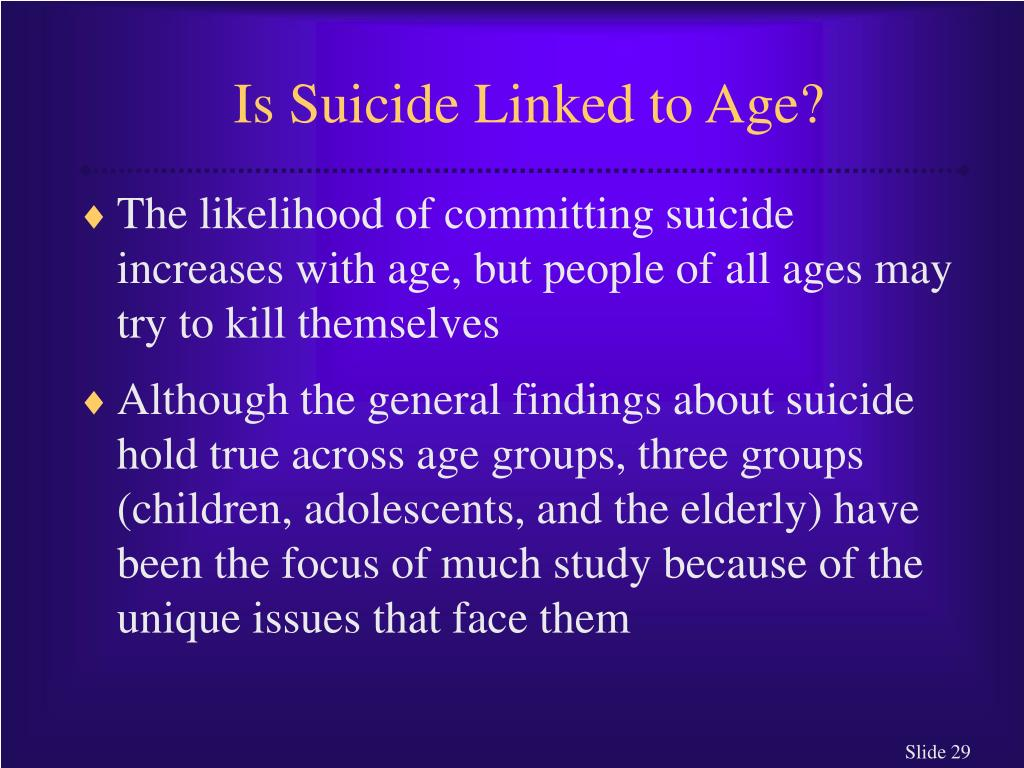 Is Suicide Linked to Age?