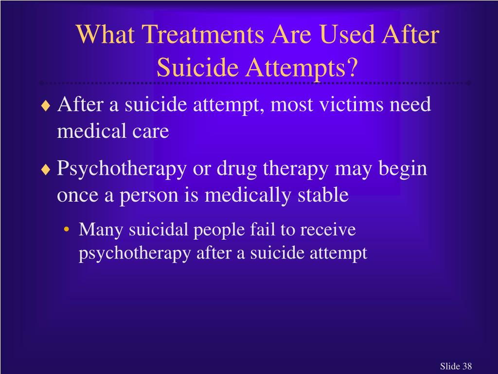 What Treatments Are Used After Suicide Attempts?