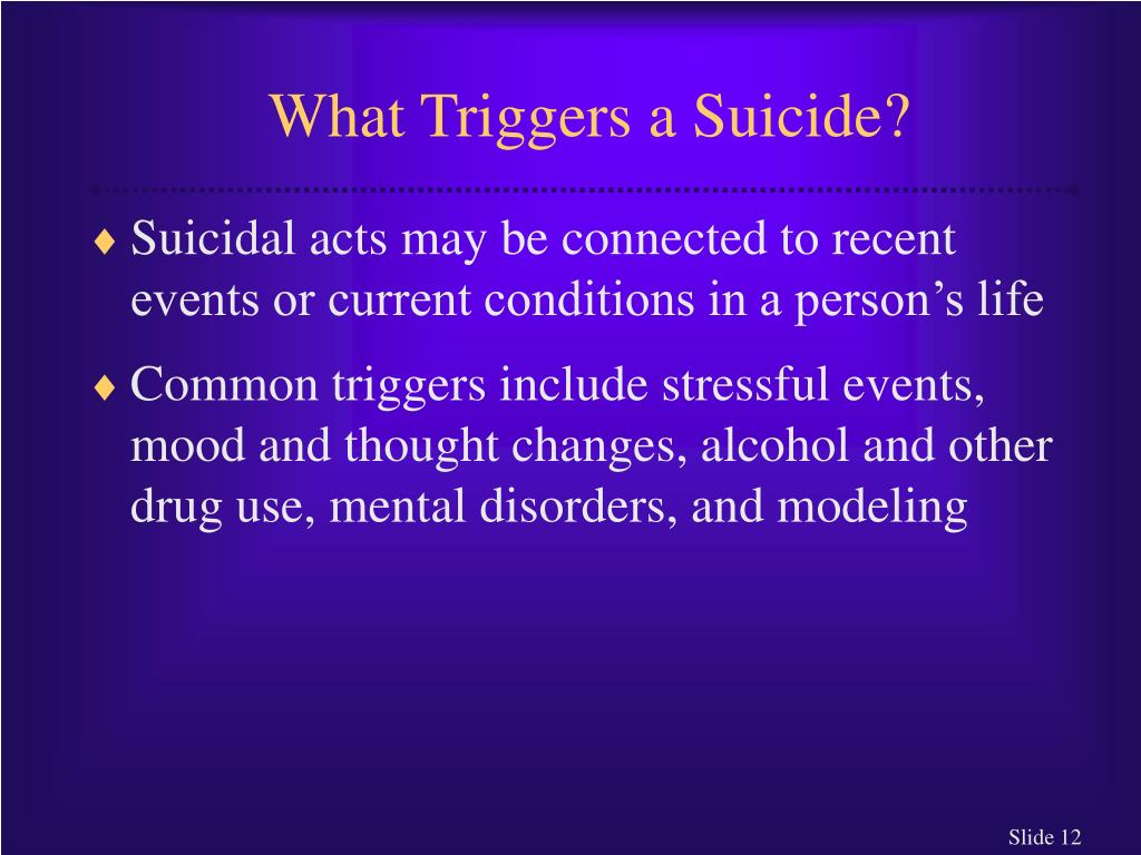 What Triggers a Suicide?