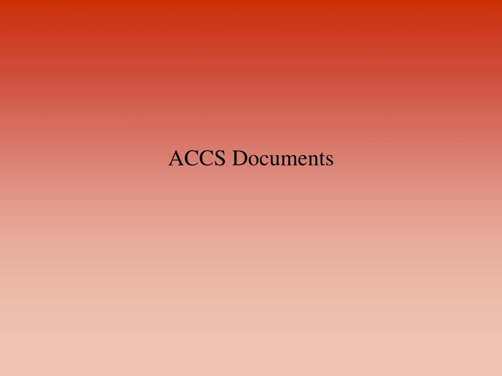 ACCS Documents