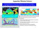 aquarius mission science