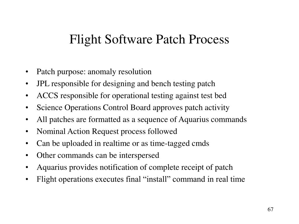 Flight Software Patch Process