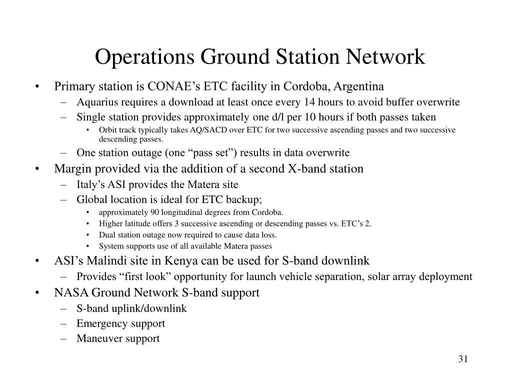 Operations Ground Station Network