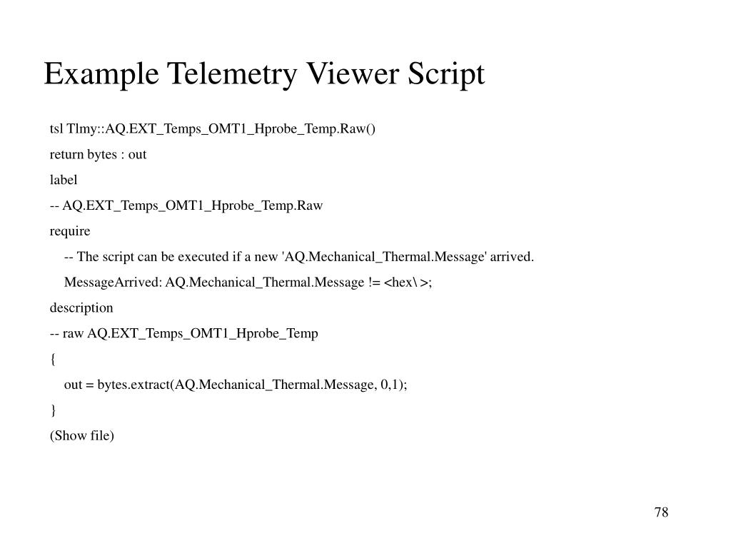 Example Telemetry Viewer Script