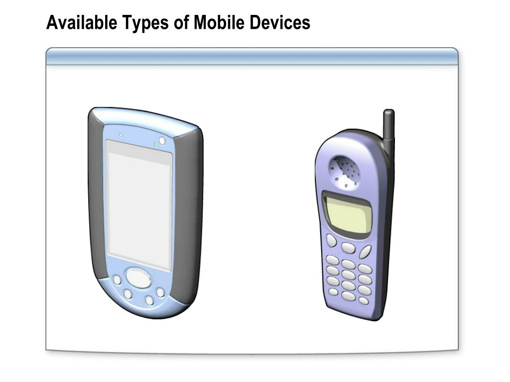 Available Types of Mobile Devices