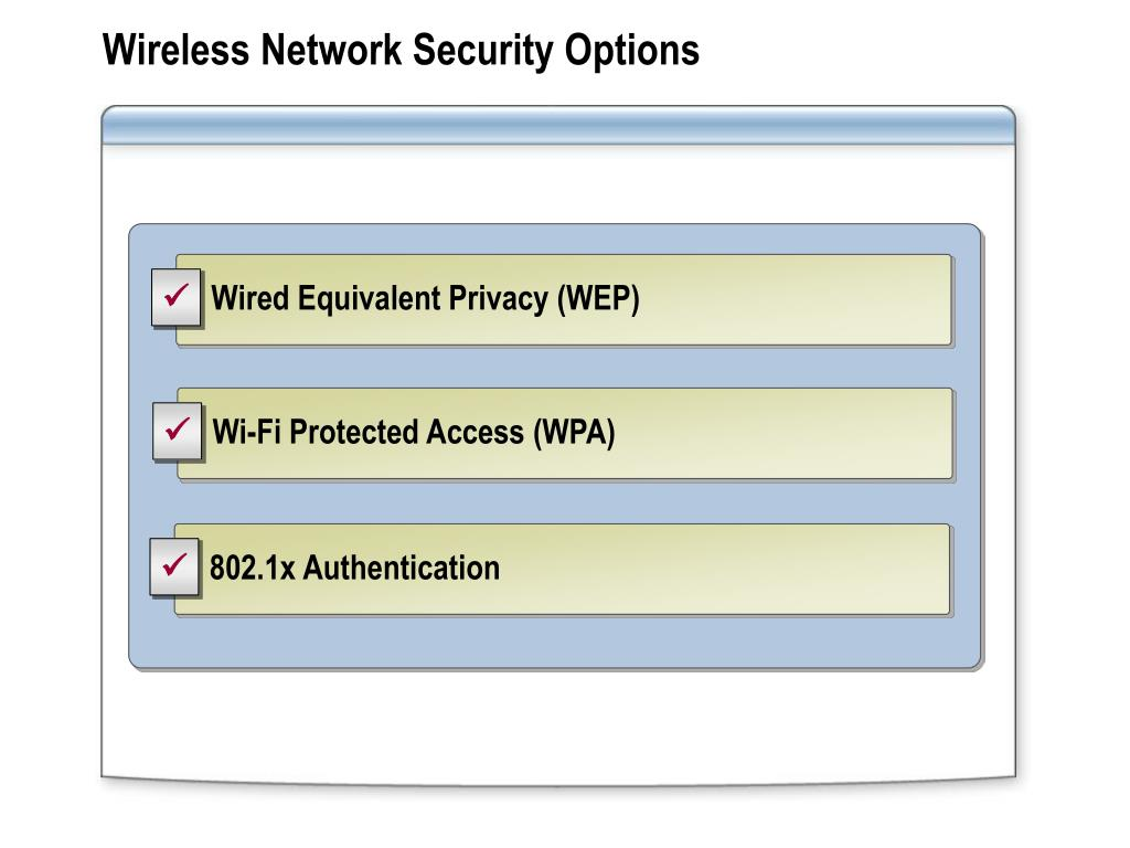 Wireless Network Security Options