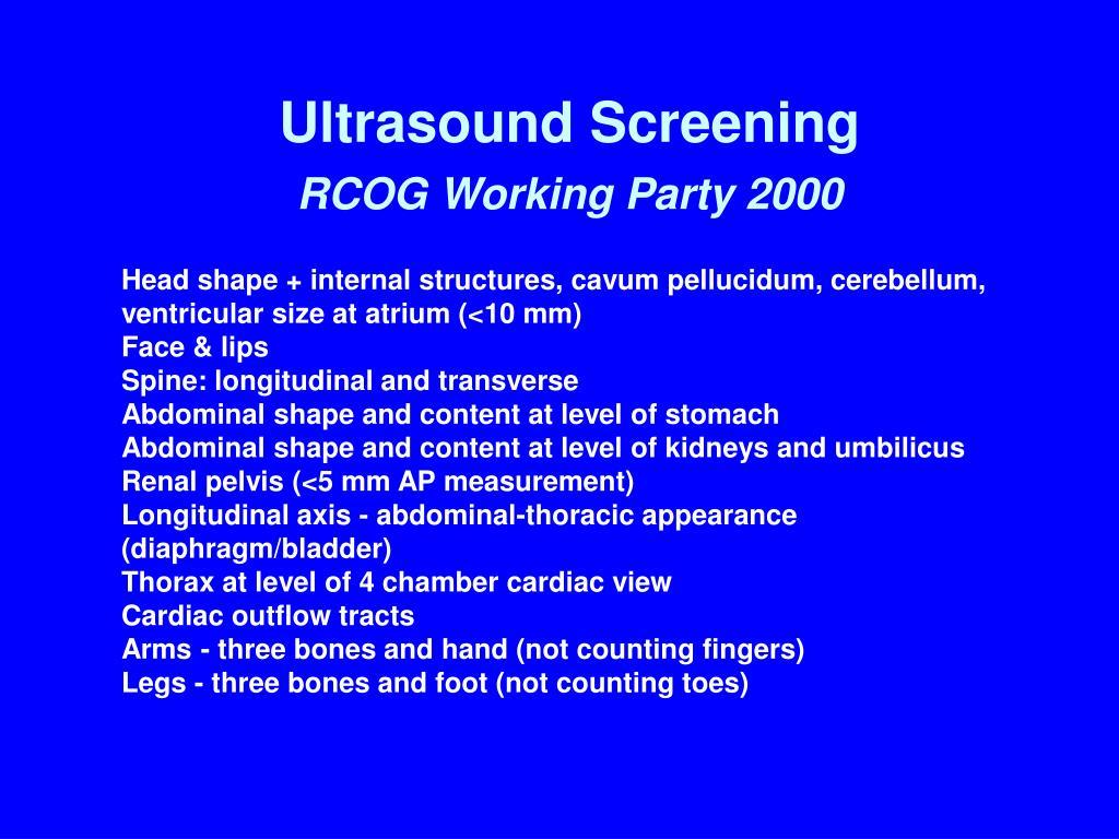 Ultrasound Screening