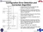 configuration error detection and correction algorithm