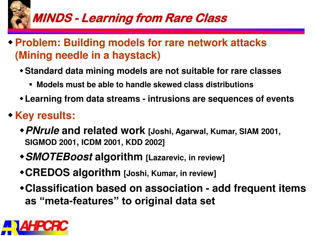 MINDS - Learning from Rare Class