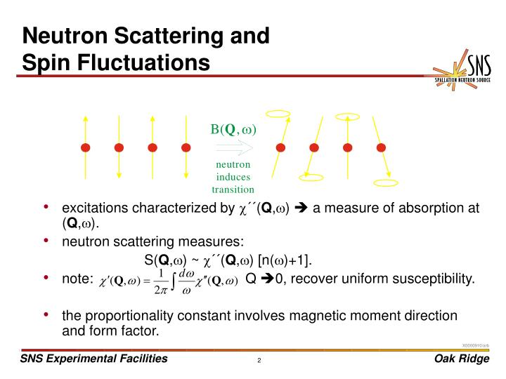 Neutron scattering and spin fluctuations