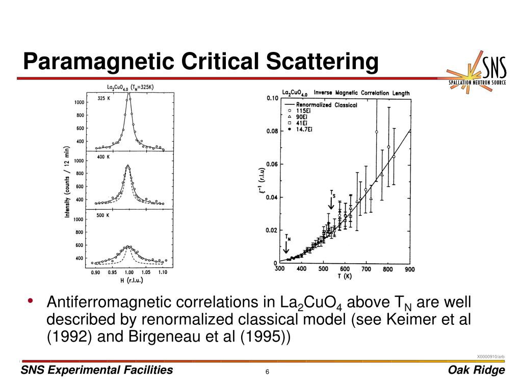 Paramagnetic Critical Scattering