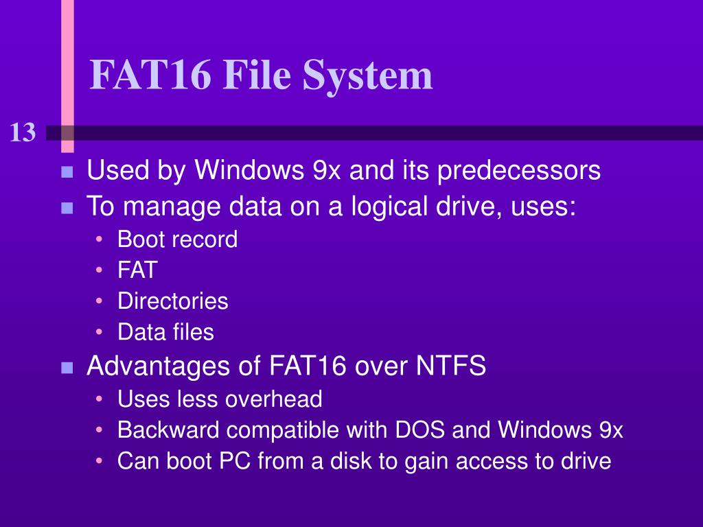 FAT16 File System