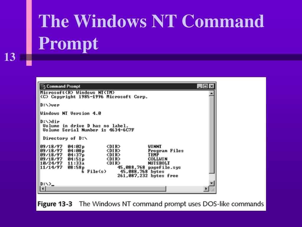 The Windows NT Command Prompt