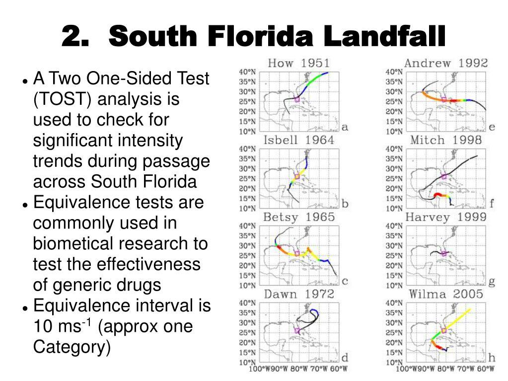 2.  South Florida Landfall